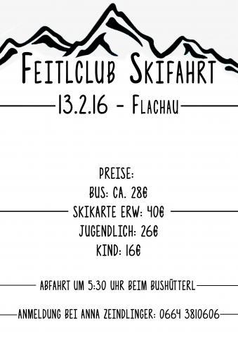 Einladung Tageskifahrt des Feitlclub Elz