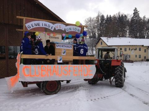 Elzer Beitrag zum Faschingsumzug Kefermarkt 2013