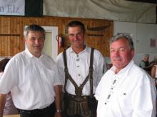 25 Jahre Sparverein Elz 2003 Gottfried Brungraber, Christian Leitner, Johann Panzirsch