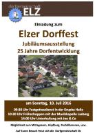 Einladung zum Elzer Dorffest 2016