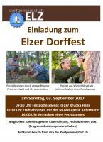Einladung zum Dorffest Elz 2017