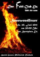 Einladung zum Sonnwendfeuer in Elz 2015
