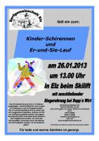 Plakat Elzer Skirennen