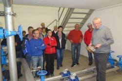 Wasserspeicher in Weinberg